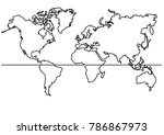 continuous line drawing   map... | Shutterstock .eps vector #786867973
