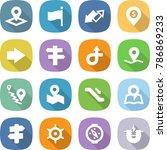 flat vector icon set   pointer... | Shutterstock .eps vector #786869233