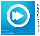 fast forward icon | Shutterstock .eps vector #786884593