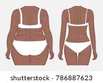 vector illustration. woman body ... | Shutterstock .eps vector #786887623