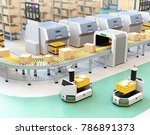 self driving agv  automatic... | Shutterstock . vector #786891373