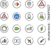 line vector icon set   elevator ... | Shutterstock .eps vector #786895027