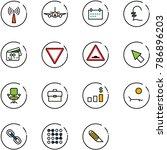 Line Vector Icon Set   Antenna...