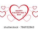 vector valentine's day design...   Shutterstock .eps vector #786932863