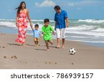 a happy family of mother ... | Shutterstock . vector #786939157