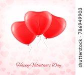 heart red transparent balloon...   Shutterstock .eps vector #786949903