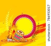 punjabi festival of lohri...   Shutterstock .eps vector #786953017