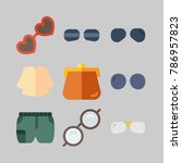 icon set about women clothes.... | Shutterstock .eps vector #786957823