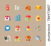 icon set about travel with... | Shutterstock .eps vector #786973807