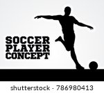 a silhouette of a soccer... | Shutterstock .eps vector #786980413