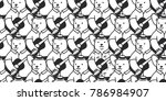 bear seamless pattern polar... | Shutterstock .eps vector #786984907