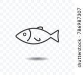 fish icon vector illustration... | Shutterstock .eps vector #786987307