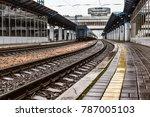 Wet Platform Of The Train...