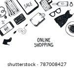 vector set of hand drawn... | Shutterstock .eps vector #787008427