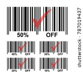 bar code sale icons set with 10 ... | Shutterstock .eps vector #787019437