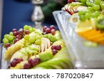 a mix of fruits from grapes ... | Shutterstock . vector #787020847