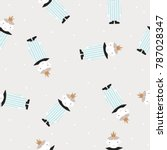 cute seamless pattern with... | Shutterstock .eps vector #787028347