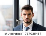 portrait of handsome young... | Shutterstock . vector #787035457