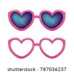 vector realistic eyeglasses... | Shutterstock .eps vector #787036237