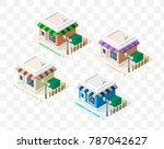 isometric high quality city... | Shutterstock .eps vector #787042627