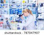 experiment with genetically... | Shutterstock . vector #787047907
