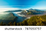 mount bromo volcano during... | Shutterstock . vector #787053757