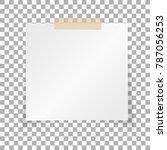 office white paper sticky note... | Shutterstock .eps vector #787056253