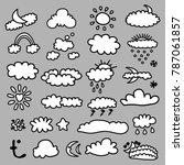 weather symbols signs | Shutterstock .eps vector #787061857