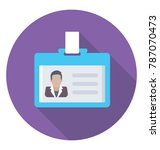 id card flat colored icon  | Shutterstock .eps vector #787070473