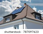 roof with dormer windows on a... | Shutterstock . vector #787097623