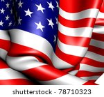 flag of usa. close up. | Shutterstock . vector #78710323