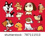 happy new year  a variety of... | Shutterstock .eps vector #787111513
