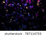 colorful jellyfishes on black...   Shutterstock . vector #787114753