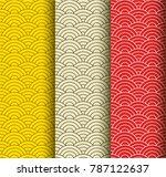 set of oriental pattern | Shutterstock .eps vector #787122637