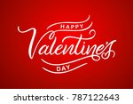 happy valentines day typography ... | Shutterstock .eps vector #787122643
