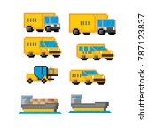 delivery transportation icon...   Shutterstock .eps vector #787123837
