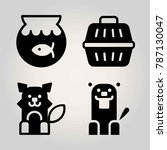 animals vector icon set. wolf ... | Shutterstock .eps vector #787130047