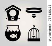 animals vector icon set. bird... | Shutterstock .eps vector #787130113