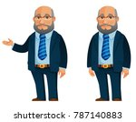 Funny Senior Businessman In...