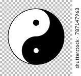 yin yang on transparent...   Shutterstock .eps vector #787147963