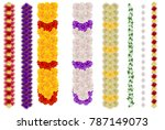 vertical flower garland for... | Shutterstock .eps vector #787149073