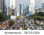 heavy traffic during the rush... | Shutterstock . vector #787151203