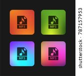 mp3 four color gradient app... | Shutterstock .eps vector #787157953