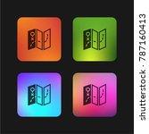 map four color gradient app... | Shutterstock .eps vector #787160413