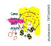 tshirt pop art neon colors...   Shutterstock .eps vector #787164343