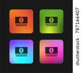 money four color gradient app... | Shutterstock .eps vector #787166407
