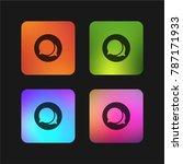speech bubble four color... | Shutterstock .eps vector #787171933