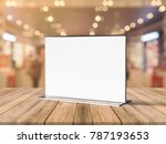 acrylic poster menu holder... | Shutterstock . vector #787193653