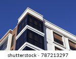 corner view of closed balcony... | Shutterstock . vector #787213297