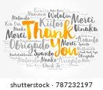 thank you word cloud in... | Shutterstock . vector #787232197